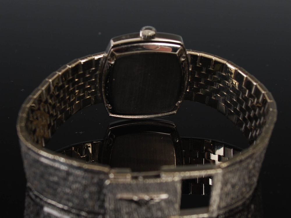 An 18ct gold and diamond set Longines ladies wristwatch, import hallmarks for London, 1968, B&Co., - Image 2 of 8