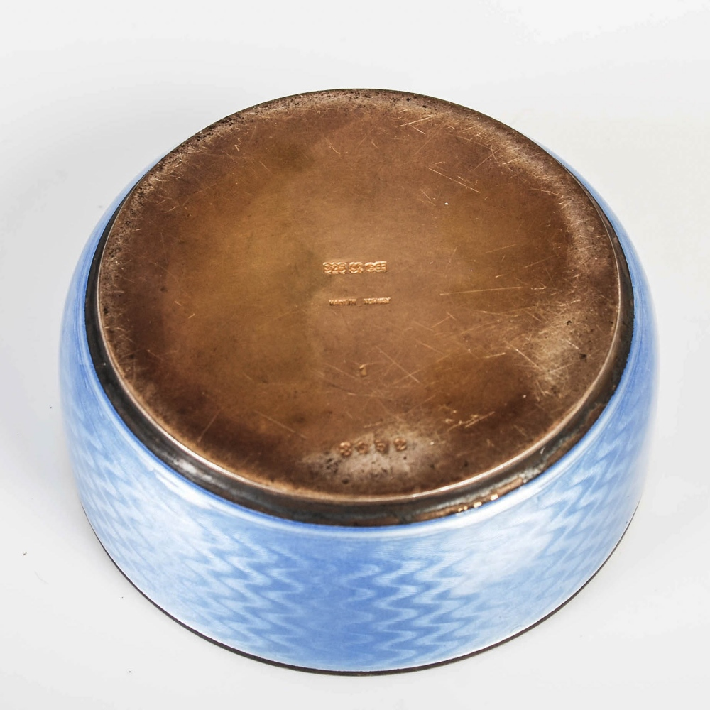 David Andersen, an early 20th century Norwegian silver gilt and blue guilloche enamel circular box - Image 6 of 7