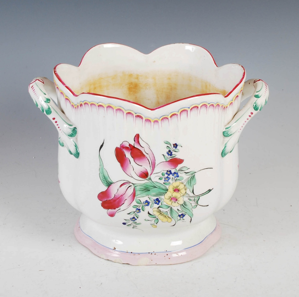 A Luneville pottery twin handled jardiniere, 21cm high x 22cm diameter. - Image 2 of 8