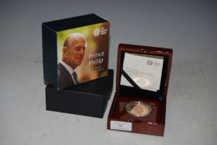 ROYAL MINT LIMITED EDITION 22CT GOLD FIVE POUND PROOF COIN, 2017, PRINCE PHILIP CELEBRATING A LIFE