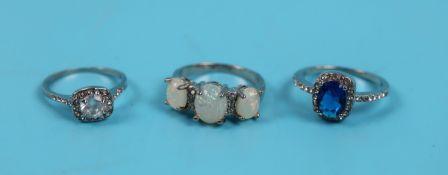 3 costume rings