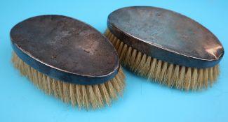 2 hallmarked silver brushes
