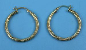 Silver gilt hoop earrings