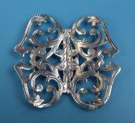 Hallmarked silver Victorian nurses buckle - Marked Birmingham 1900