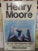 Henry Moore framed poster