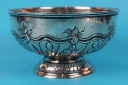 Hallmarked silver bowl - Approx weight: 350g