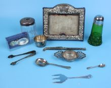 Collection of silver and white metal