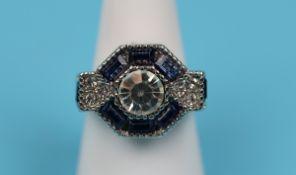 Art Deco style costume jewellery ring