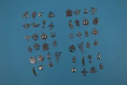 Tibetan silver charms - Approx 47