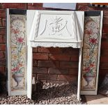 Metal & tiled fireplace