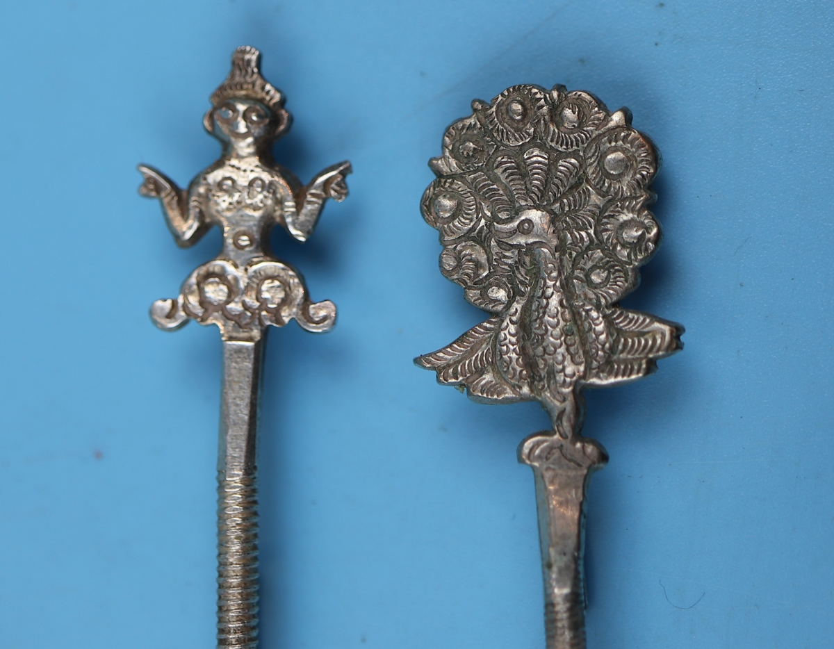Collection of white metal & silver to include early Victorian spoon and fork - Image 4 of 11