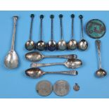Collection of silver etc to include brooch