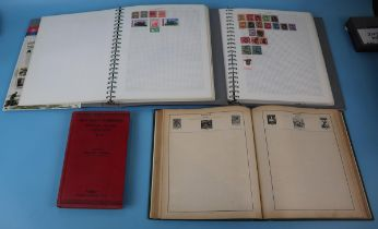 Stamps - 3 stamp albums & Stanley Gibbons 1942 stamp catalogue