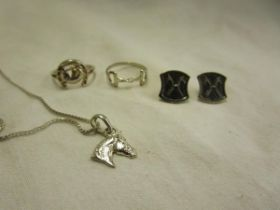 Collection of equestrian themed jewellery