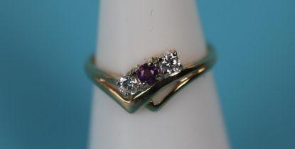 Gold amethyst set ring