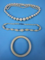 Collection of ivory jewellery