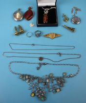 Collection of costume jewellery to include silver