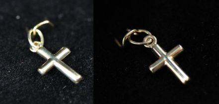2 x small gold crucifix