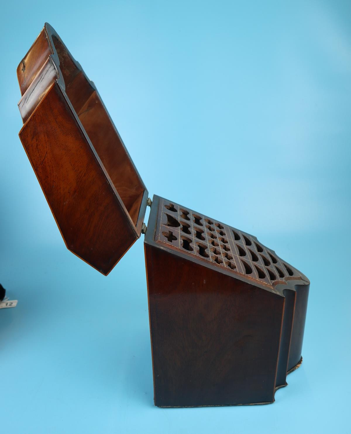 Pair of Georgian mahogany knife boxes with fitted interiors - Image 17 of 17
