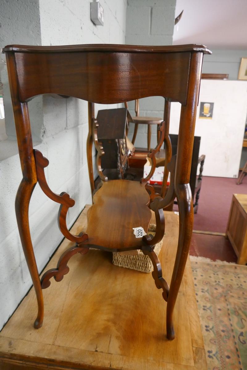Pretty Art Nouveau mahogany writing table - Image 7 of 7