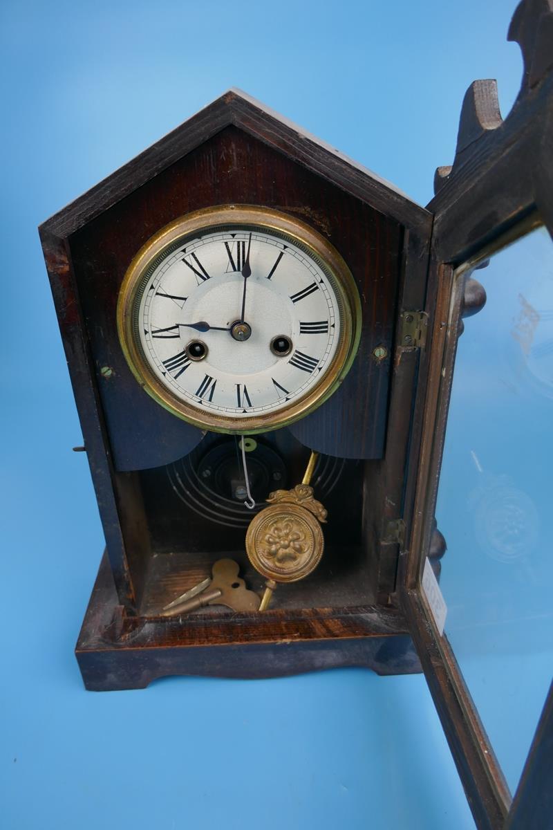 Unusual mantle clock - Image 5 of 5
