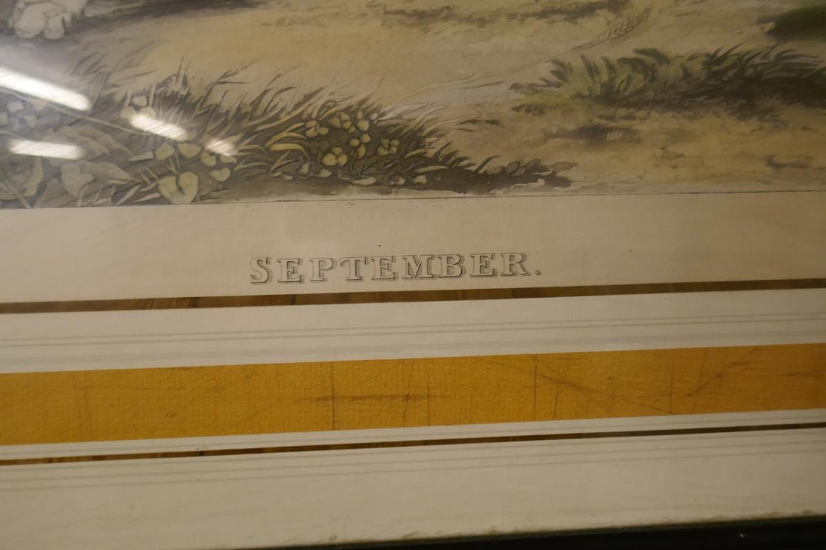 Pair of hunting prints entitled September & October - Image 2 of 3