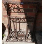 Cast iron welly stand & boot scraper A/F