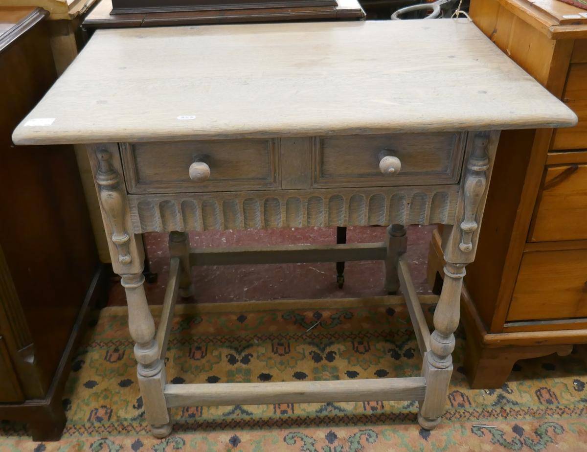 Limed oak hall table