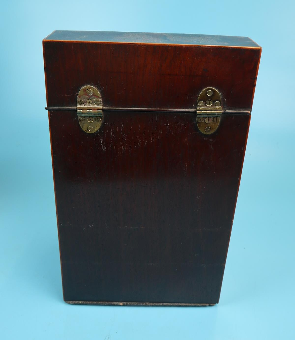 Pair of Georgian mahogany knife boxes with fitted interiors - Image 13 of 17