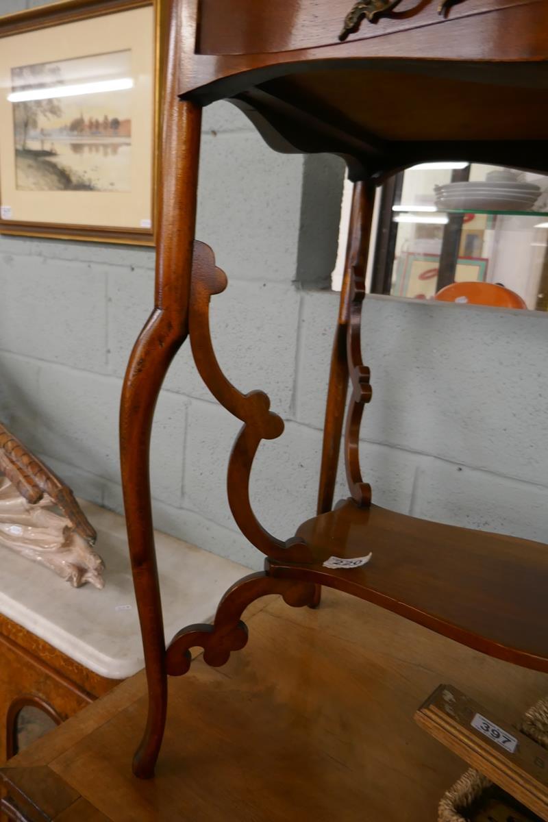 Pretty Art Nouveau mahogany writing table - Image 6 of 7