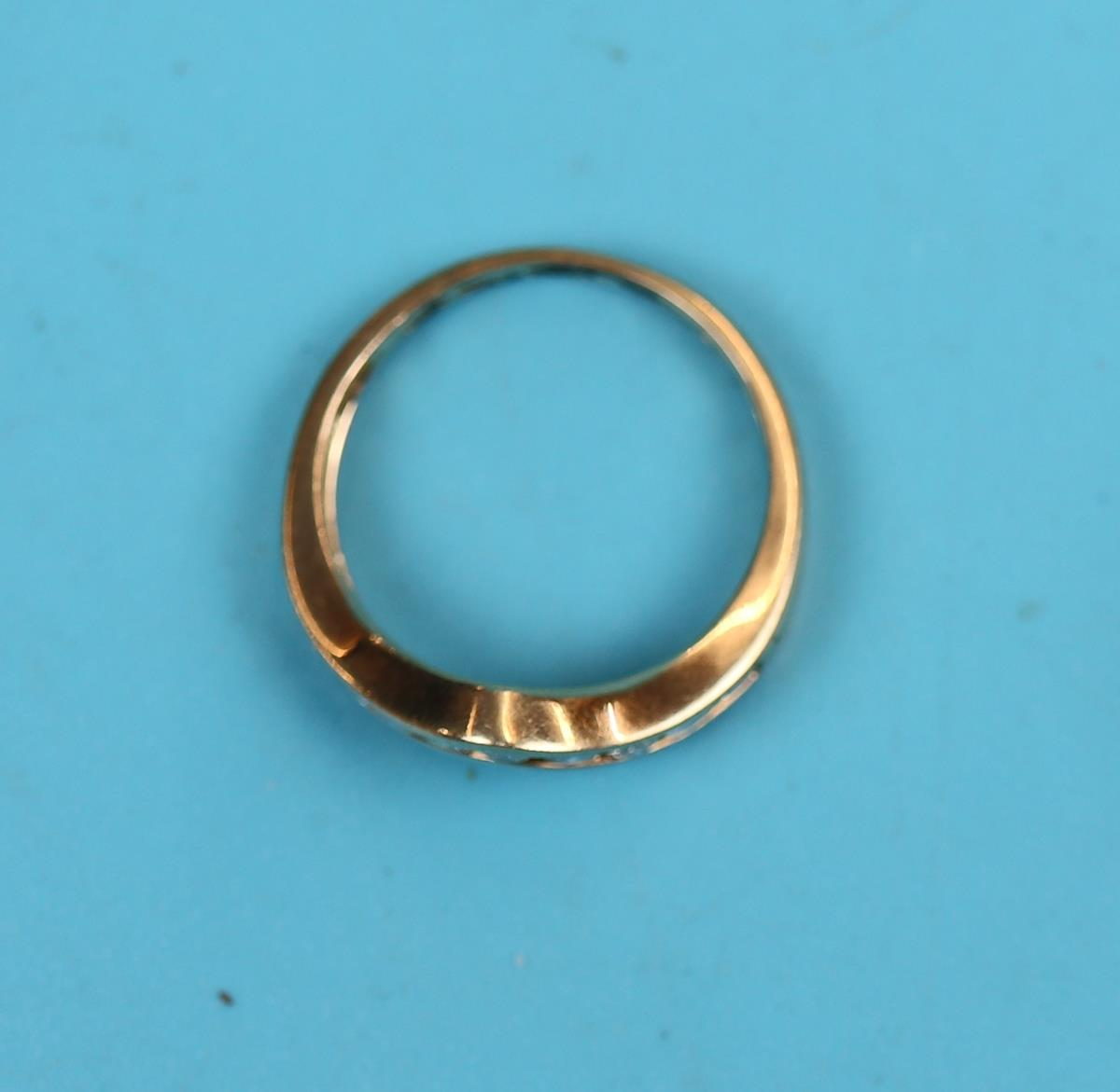 Gold channel set diamond wishbone ring (.5ct diamonds) - Image 2 of 2