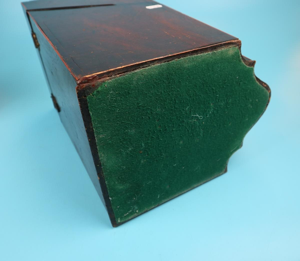 Pair of Georgian mahogany knife boxes with fitted interiors - Image 9 of 17