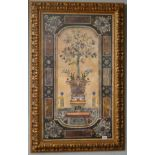 Unusual print of lemon tree in classical setting with ornate gilt frame