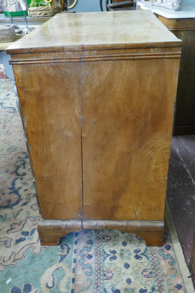 Georgian inlaid walnut chest of 2 over 3 drawers - W: 95cm D: 55cm H:89cm - Image 8 of 9