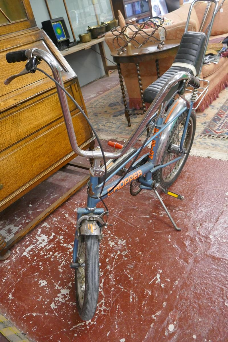 Raleigh chopper MKII space blue completely original (including tyres) Nottingham made, November 1976 - Image 4 of 17