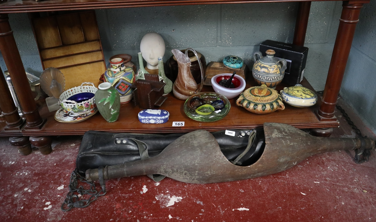 Shelf of collectables to include yoke
