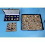 Large quantity of pin badges & Peking Jewellery medallions