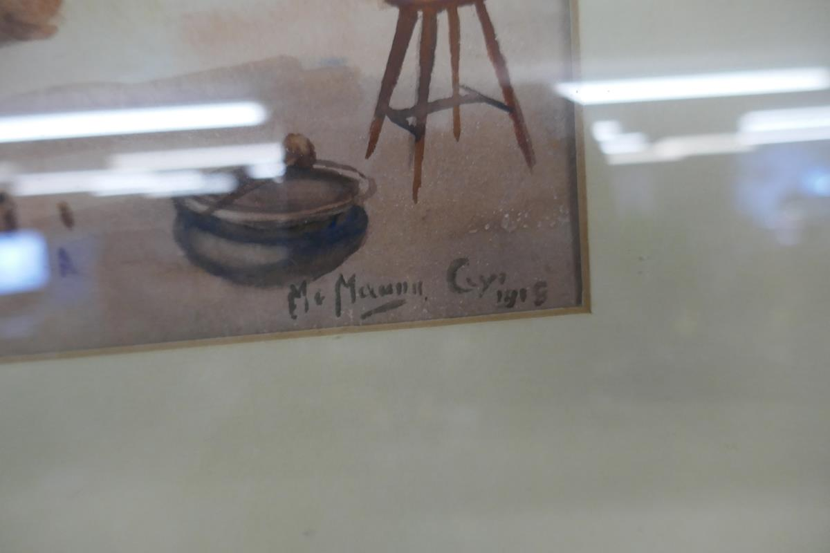 Pair of antique watercolours by Burmese artist Maung Maung Gyl - Image 5 of 10