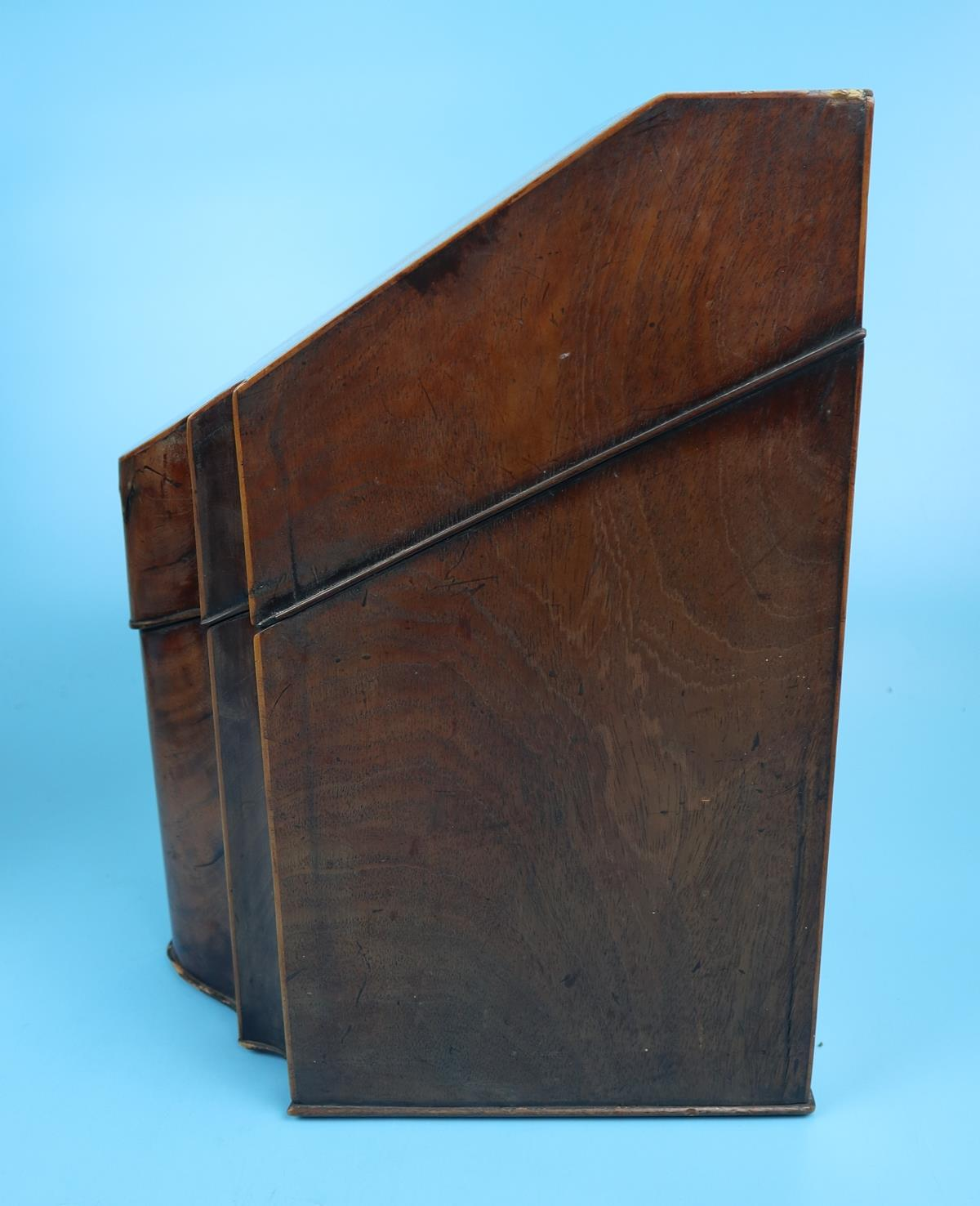 Pair of Georgian mahogany knife boxes with fitted interiors - Image 2 of 17