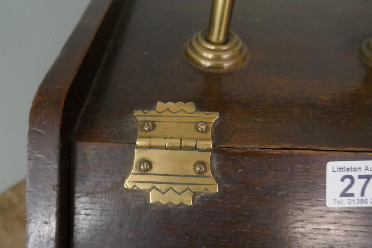 Victorian oak coal skuttle - Image 3 of 4