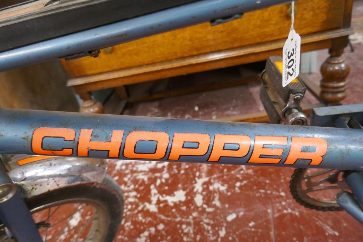Raleigh chopper MKII space blue completely original (including tyres) Nottingham made, November 1976 - Image 8 of 17