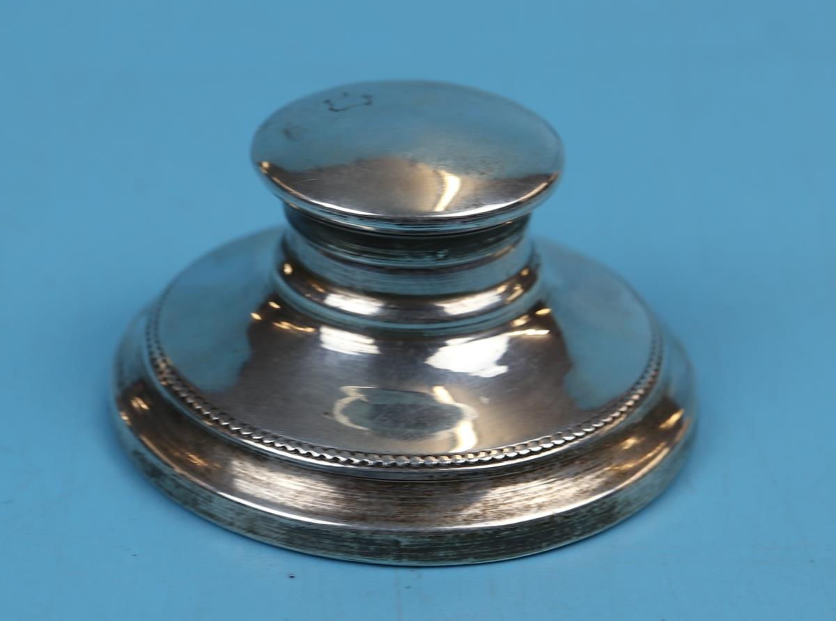 Hallmarked silver matching calendar & inkwell with Ivory tablets - London 1925 - J Aldridge & Sons - Image 8 of 12