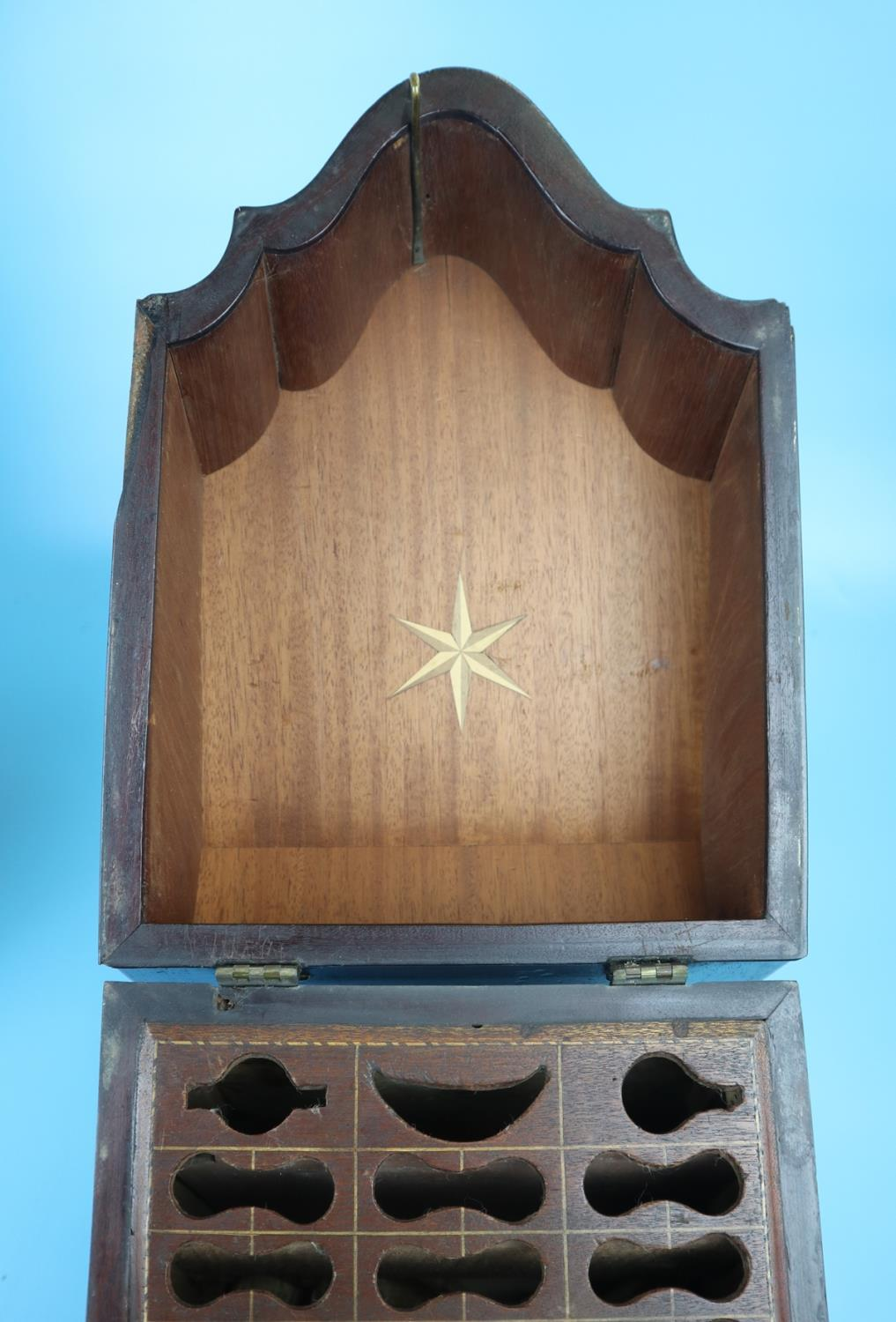 Pair of Georgian mahogany knife boxes with fitted interiors - Image 4 of 17