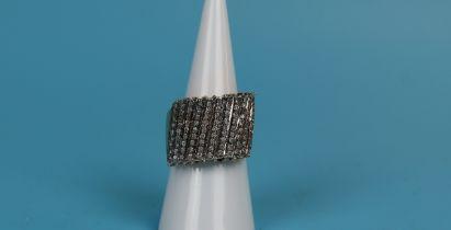 Designer gold diamond set ring