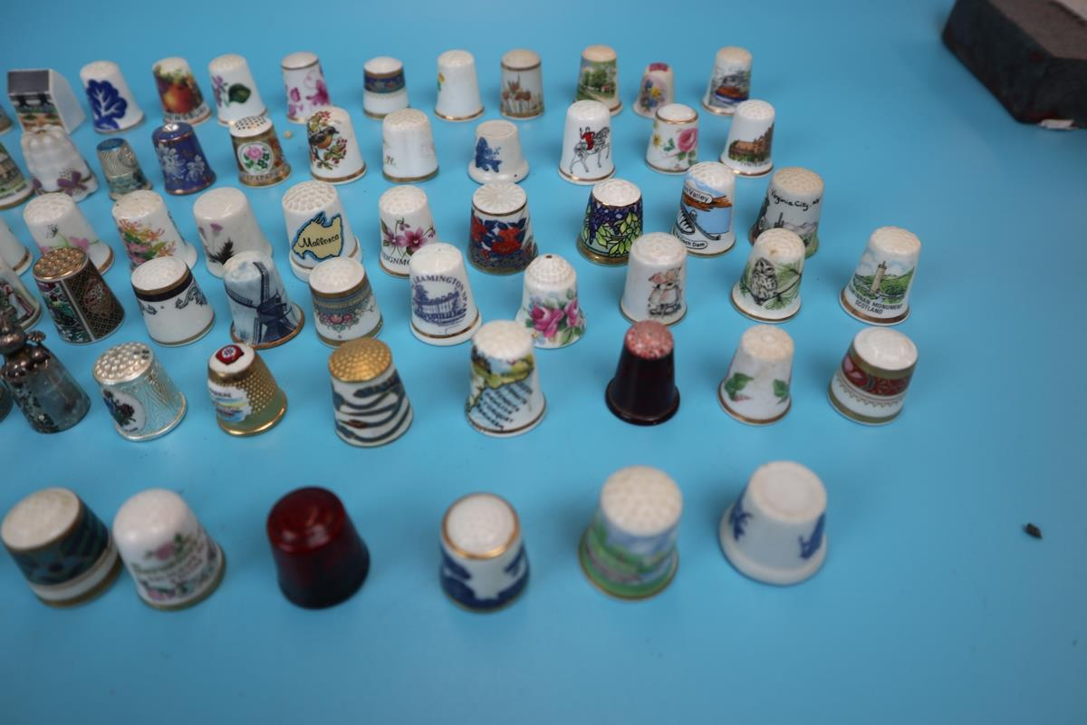 Large collection of thimbles - Image 3 of 7