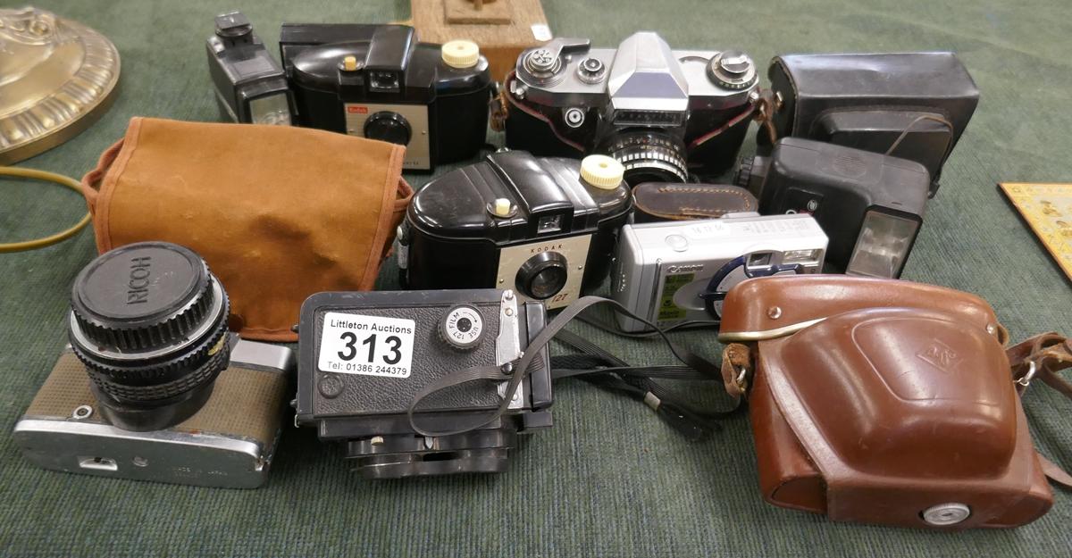 Collection of vintage cameras