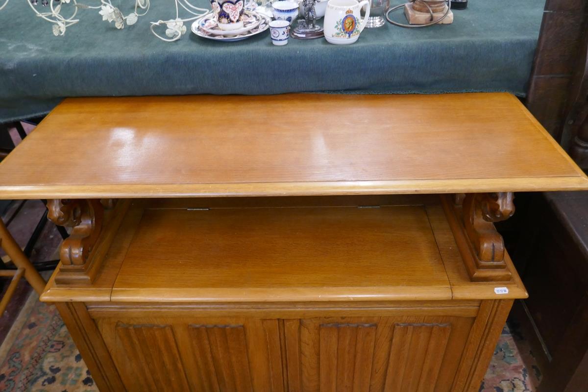 Oak monks bench - Image 6 of 6