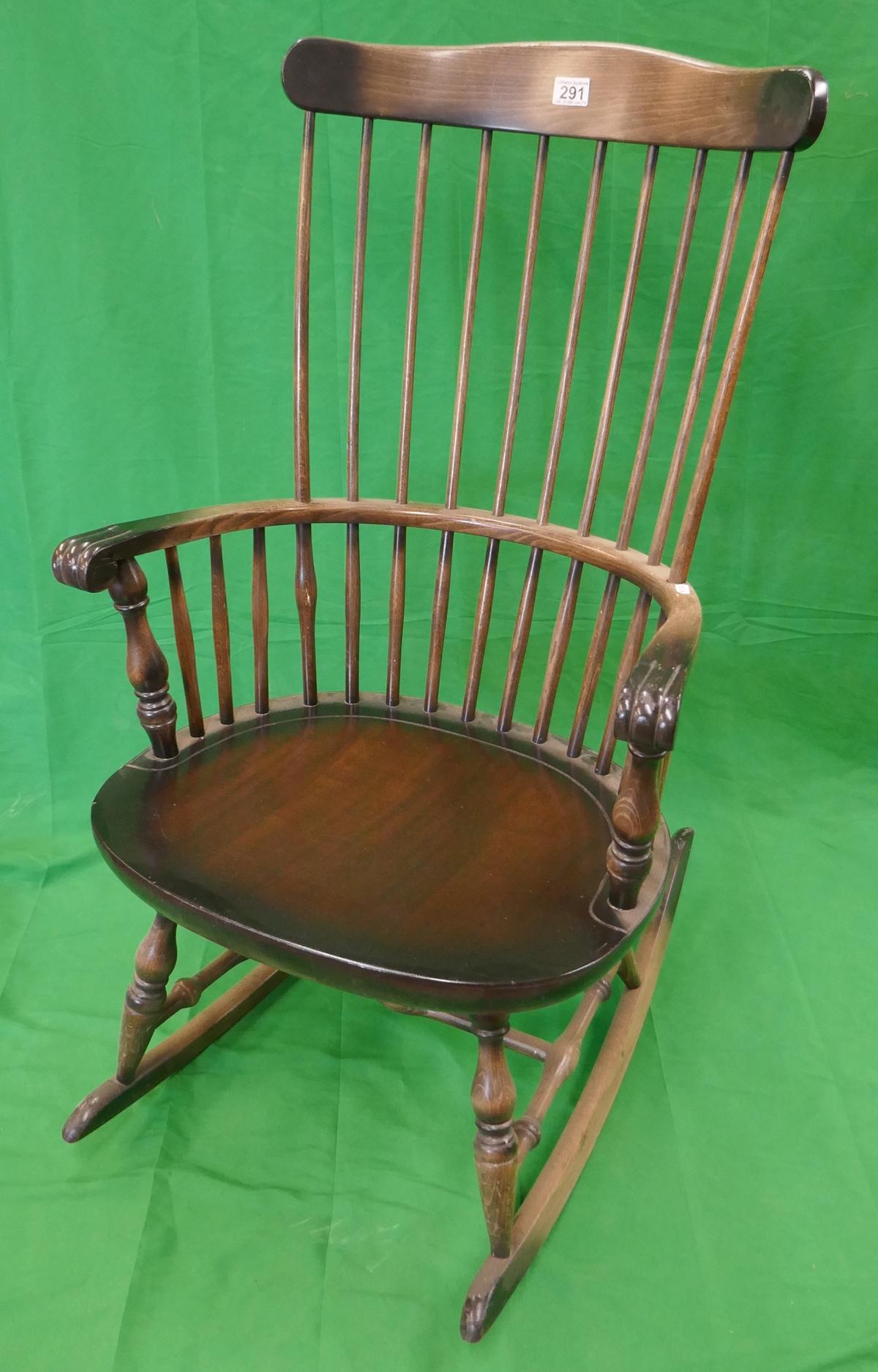 Stick-back rocking chair