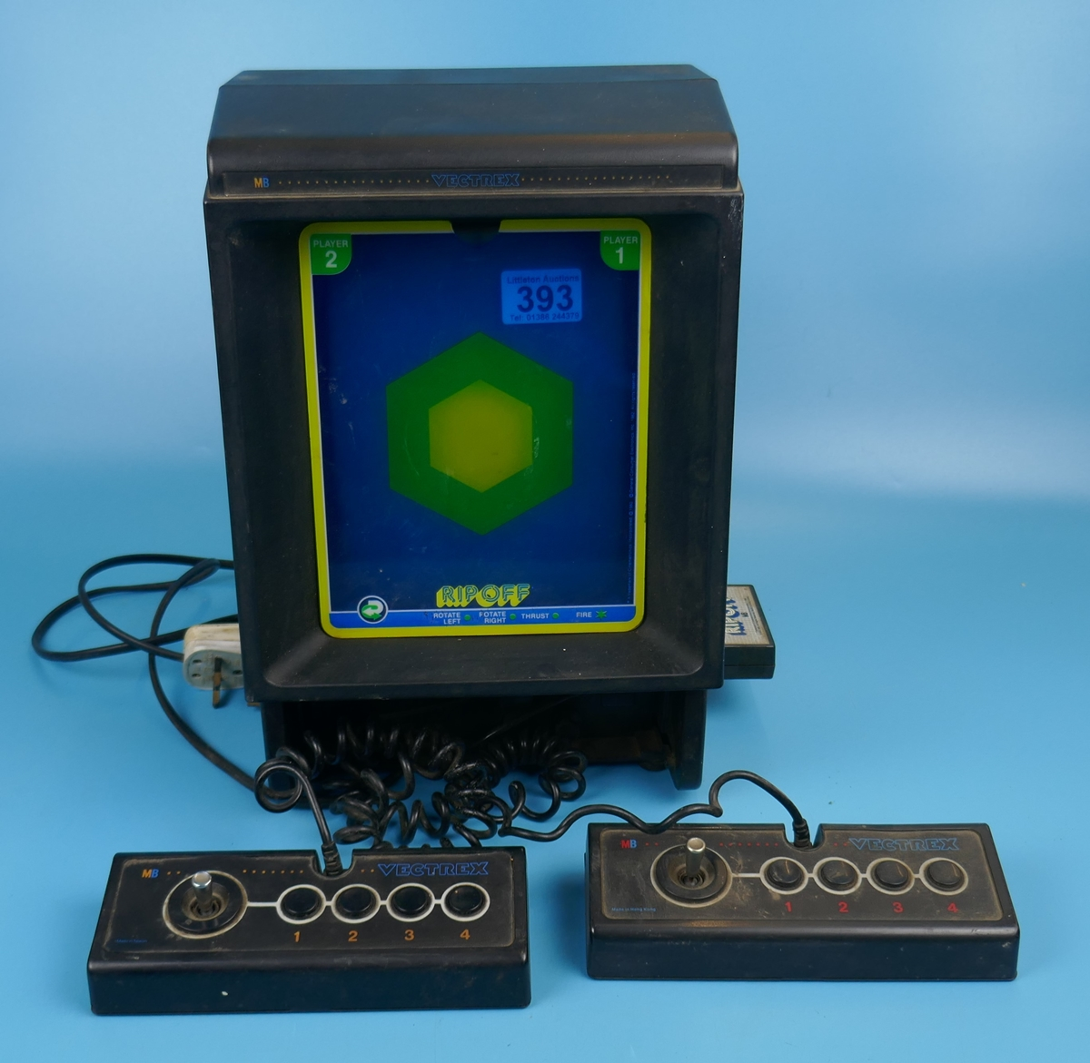 Vintage MB Vectrex computer game with 1 game cartridge