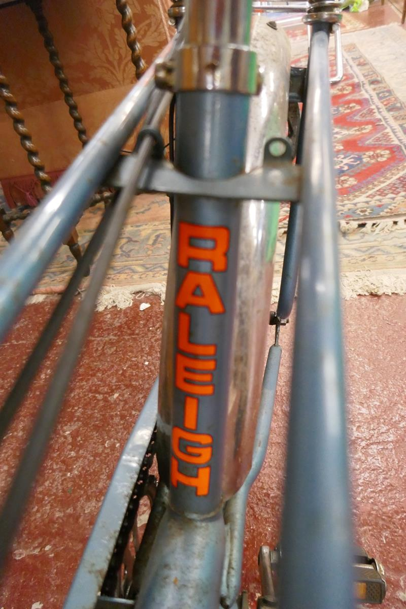 Raleigh chopper MKII space blue completely original (including tyres) Nottingham made, November 1976 - Image 9 of 17